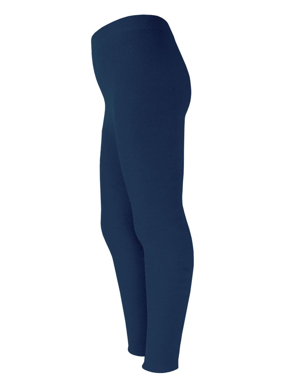 MaxiMo Vollfrotteeleggings, Einfarbig, Calzamaglia sportiva Bambino Blau (indigo 4) 53243-161900_4