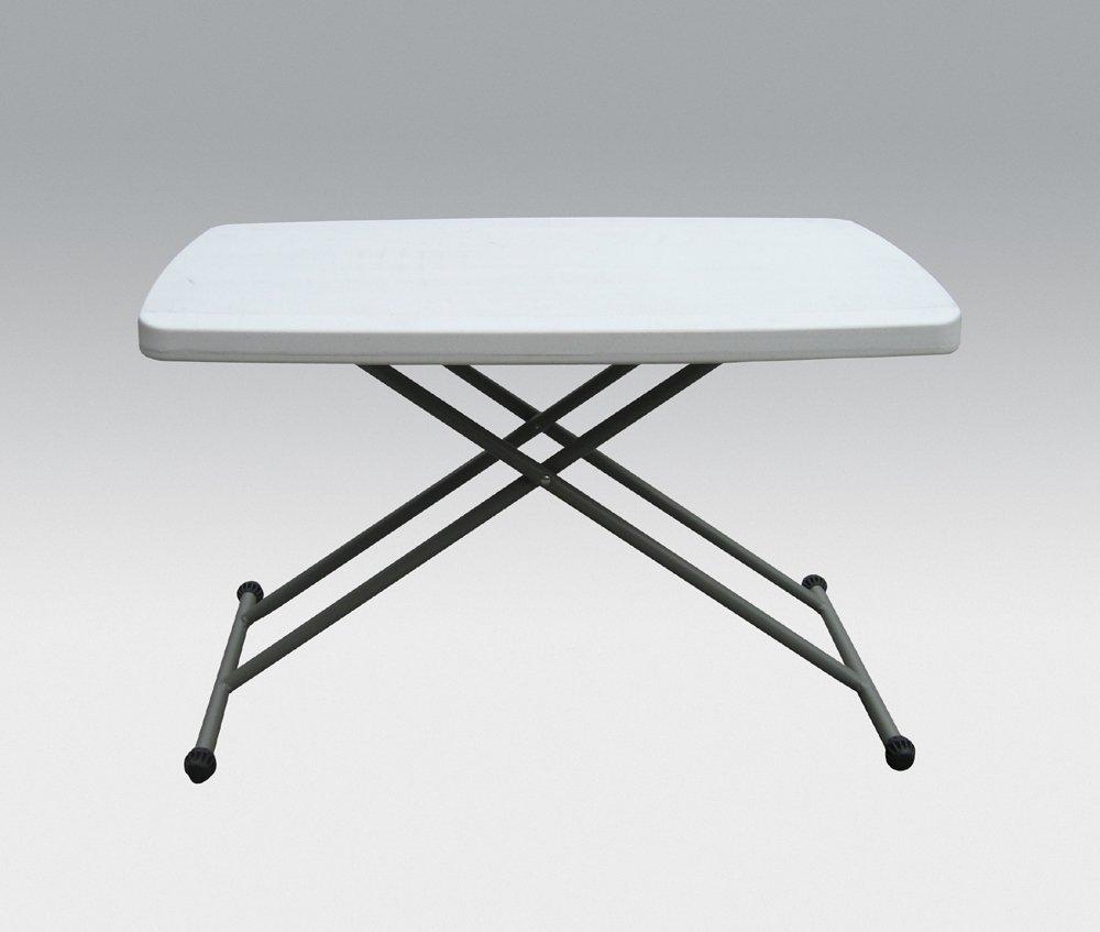 2 5FT rectangular height adjustable folding table perfect TV