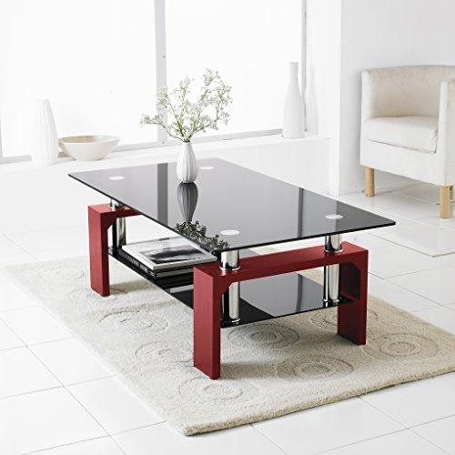 Black And Chrome Coffee Table Set: Neotechs® Black Modern Rectangle & Black Glass Chrome