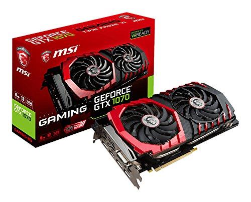 (MSI GeForce GTX 1070 DirectX 12 GTX 1070 GAMING 8G 8GB 256-Bit GDDR5 PCI Express 3.0 x16 HDCP Ready SLI Support ATX Video Card)