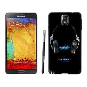 NEW Unique Custom Designed Samsung Galaxy Note 3 N900A N900V N900P N900T Phone Case With Live For Music Black Neon Blue_Black Phone Case