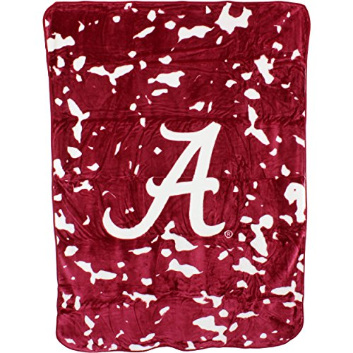 College Covers NCAA Alabama Tide Plush Raschel Throw Blanket, 63