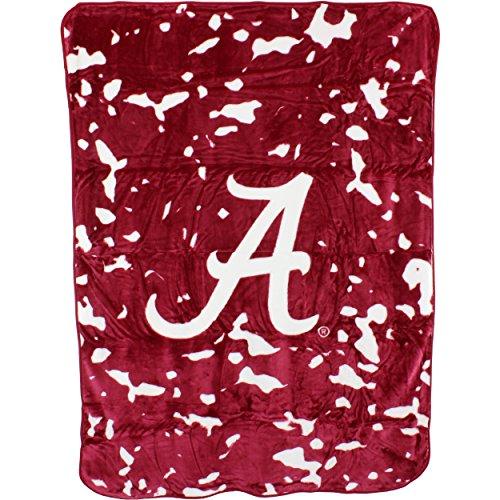 Alabama Crimson Tide Plush Throw - College Covers NCAA Alabama Tide Plush Raschel Throw Blanket, 63
