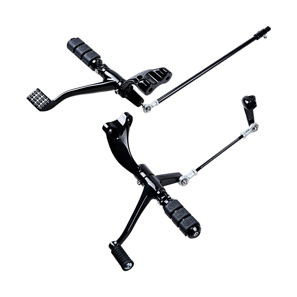 Complete Kit Black Forward Controls Foot Pegs Levers Linkages for Harley Sportster XL 1200 883 Selected 2014-2018