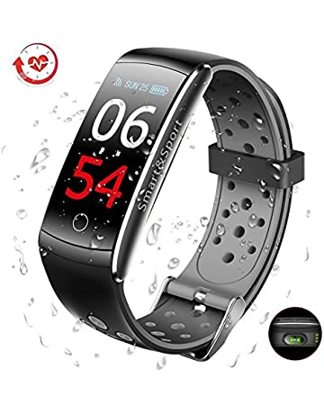El Mejor Pulsera de Actividad Inteligente - GLAMSVILL Pulsera Actividad  Reloj Inteligente Con Monitor Presión Arterial ac4e3cd888fd