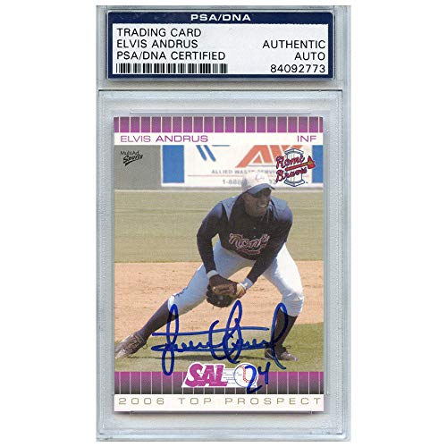 Elvis Andrus Autographed Signed Baseball Trading Card Rome Braves PSA/DNA #84092773