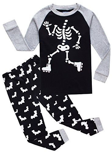 Family Feeling Halloween Skeleton Little Boys Girls Pajamas Sets 100% Cotton Clothes Toddler Kids Pjs Size 2T - Toddler Halloween Clothing