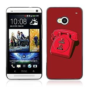 A-type Arte & diseño plástico duro Fundas Cover Cubre Hard Case Cover para HTC One (M7) ( Batphone divertido Ilustración )