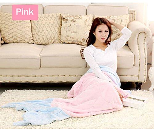 Bunting Costume Shark Baby - Fanova Cute Knit Flannel Adults Mermaid Tail Blanket Bed Wrap Warm Fleece Sleeping Bag