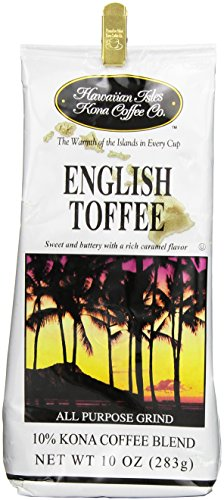 Hawaiian Isles Coffee Co. English Toffee 10 oz grind