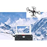 MJX Bugs 3 UAV Quadcopter Drone Aircraft RC RTF 6-Axis Gyro Brushless Motor with 5.8G Built-in HD 1080P C5820 Camera 200-300M FPV, 4.3 Inch Display Screen and 3D VR Goggles