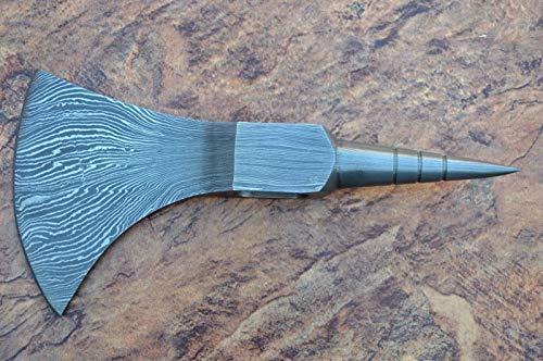 JNR TRADERS Handmade Damascus Steel Axe Hatchet Head Knife vk1500