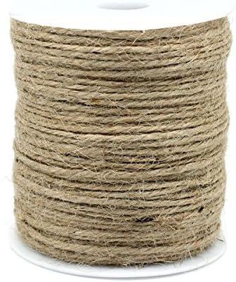 SiAura Material - Cuerda de yute (90 m, 1 mm), color marrón