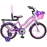 Atlas Hot Star TT 16 inches Single Speed Bike for Kids of Age 5-8 Yrs Pink &Purple