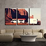 wall26 - 3 Piece Canvas Wall Art - Monument Valley,Utah,Usa - Modern Home Decor Stretched and Framed Ready to Hang - 24''x36''x3 Panels