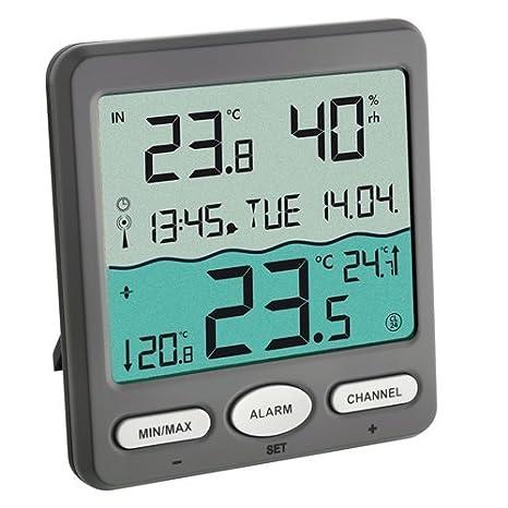 TFA 30.3056.10 - Termómetro Digital de Piscina con Sensor Remoto: Amazon.es: Jardín