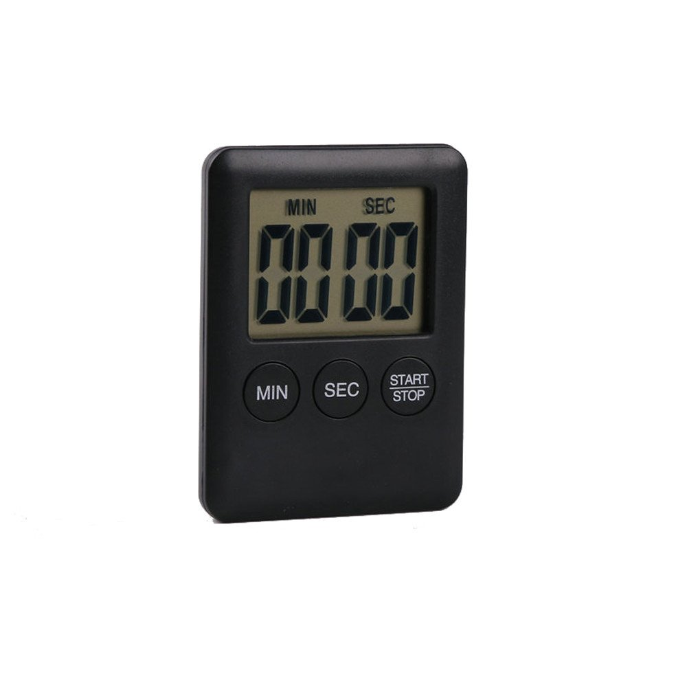 Connia Digital Timer Reminder Alarm LCD Cooking Clock Kitchen Large Count-Down up Loud Kitchen Supplies (Black)