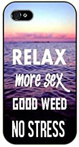 Case For Ipod Touch 4 Cover Weed and dope - Relax, more sex, good weed, no stress - black plastic case / Verses, Inspirational and Motivational