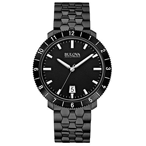 - Bulova 98B218 Mens BA11 Black Steel Bracelet Watch