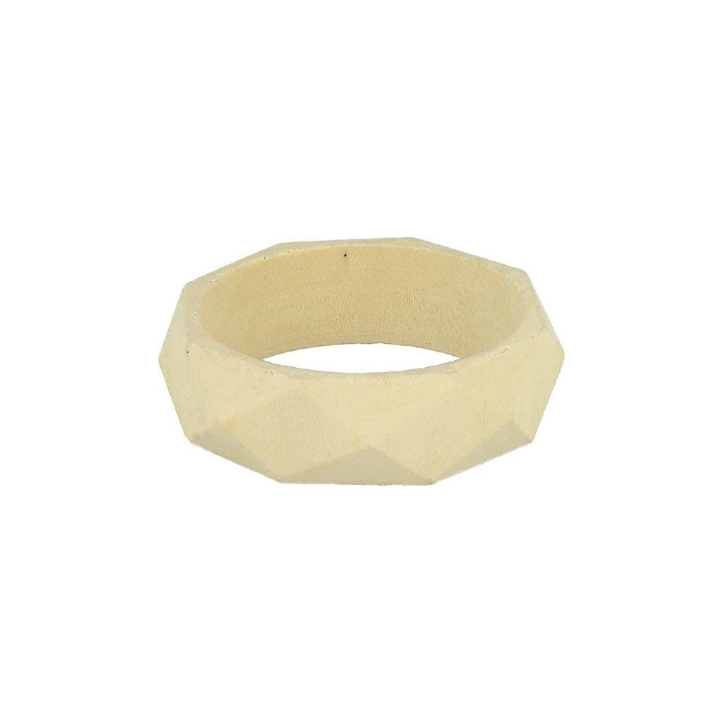 Bracelet losange en bois brut Medium à personnaliser et décorer x1