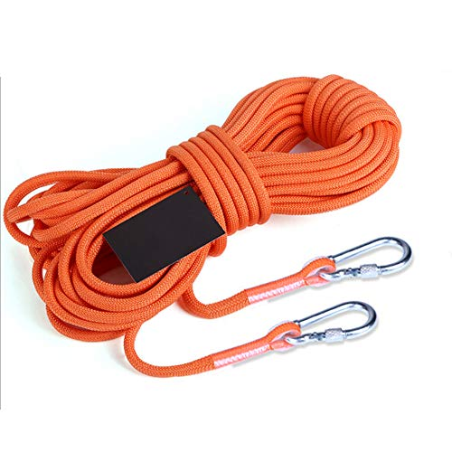First Sports Bag Playset - GEMYON Durable Rock Climbing Rope, 8mm Diameter Outdoor Hiking Accessories(10m, 32ft), (15m, 49ft) for Downhill Hiking with Carabiner