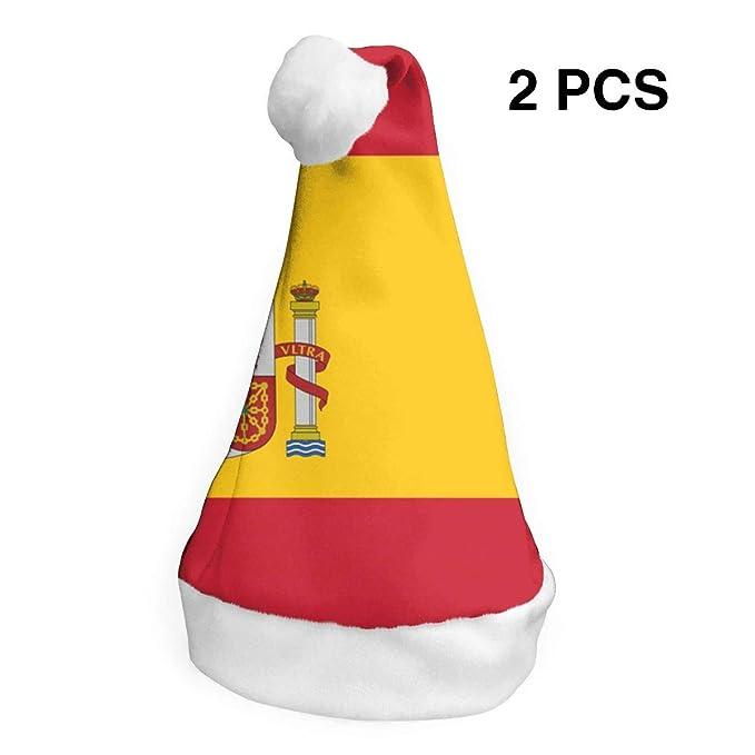 rouxf Gorras de Navidad Bandera española (2) Gorro de Navidad con ...