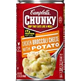 chicken and broccoli - Campbell's Chunky Soup, Chicken Broccoli Cheese with Potato, 18.8 Ounce