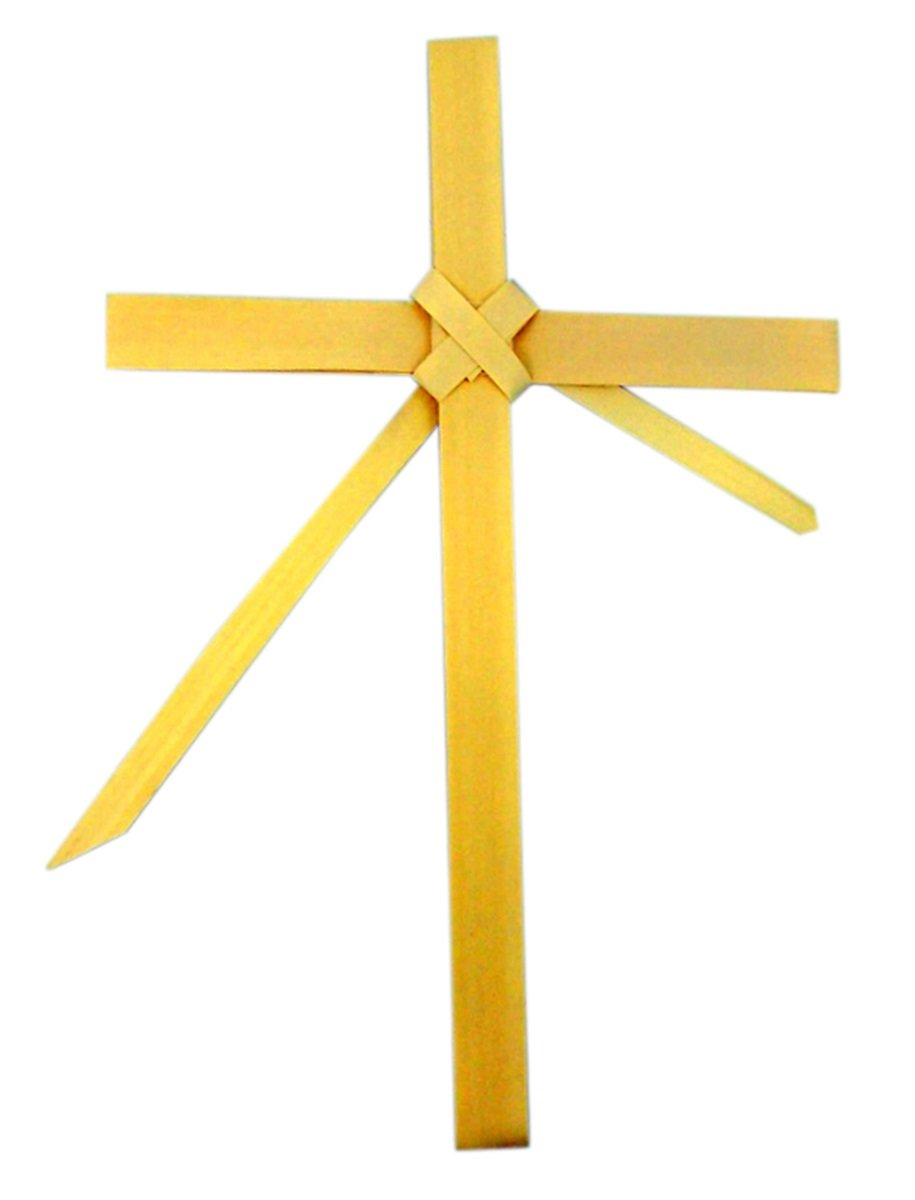 Amazon.com: Palm Sunday Palm Leaf Cross with Center Frond, 8 1/2 ...
