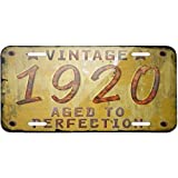 Metal License Plate Vintage Year 1920, Born/Made - Neonblond