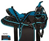 AceRugs Western Cordura Blue Pleasure Trail All Purpose Show Horse Saddle TACK Package (15)
