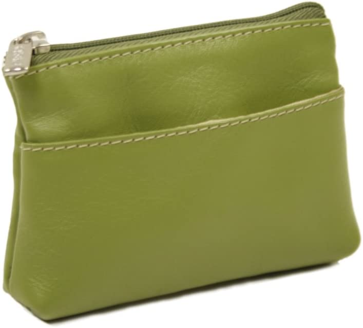 Piel Leather Key Coin Purse, Apple, One Size
