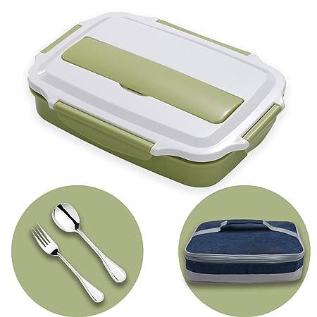 HUAFA Lunchbox Estilo bento, Incluyendo Bolsas de Almuerzo y Cubiertos, Apto para Microondas Y Lavavajillas, Duradero, Saludable Y con Estilo, Apto ...