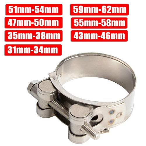 Pettit Steven -VN3 NICECNC 31mm-62mm Motorcycle Exhaust Clamp Clip Stainless Steel Exhaust Pipe Clamps For KTM Honda Yamaha Kawasaki Suzuki BMW ATV