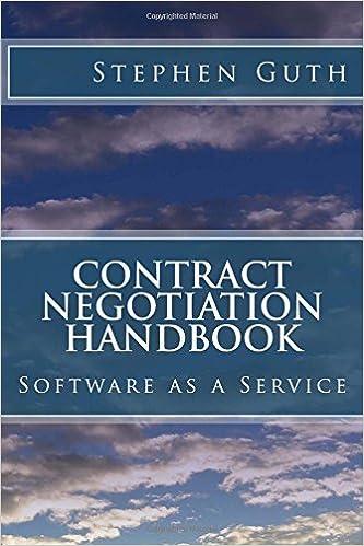 Contract Negotiation Handbook: Software as a Service: Stephen Guth ...