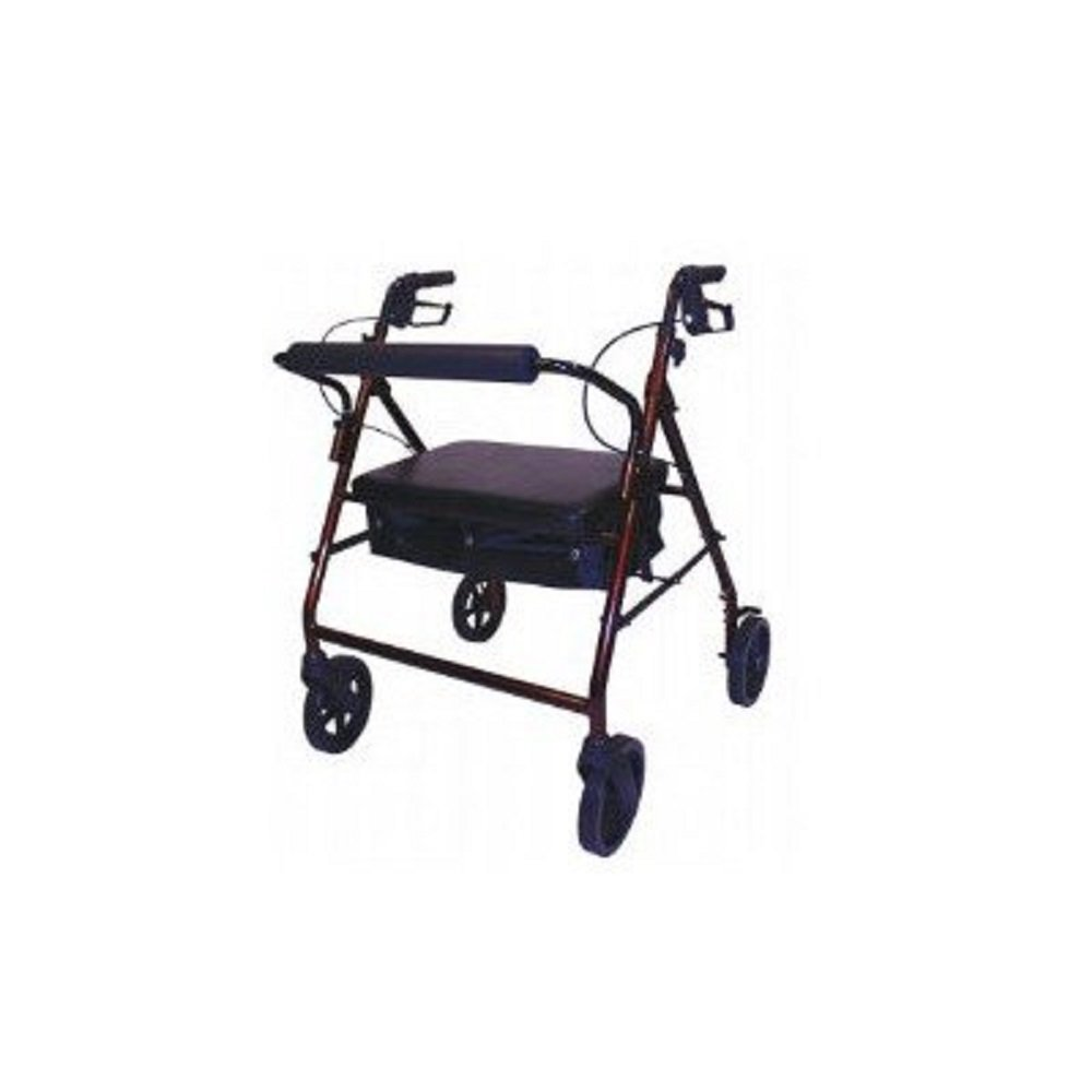 Roscoe Medical - Bariatric Rollator with Padded Seat (Burgundy) - CM