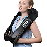 NURSAL 3D Shiatsu Neck and Shoulder Massager with Heat, Hand Vibration Therapy, Adjustable Intensity and Deep-Kneading for Back, Legs and Feet Pain