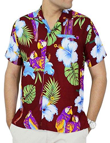 Buy cheap La Leela Likre Gift Dad Father mother Son Cheap ukulele Solid plain male golf pool swim dress Shirts Maroon XL