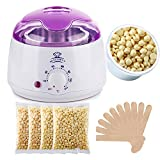 Makartt Wax Warmer Melter Hair Removal Kit Set with Hard 400g Wax Beans and Wax Applicator Sticks