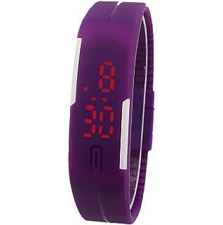 Sannysis® Deportes de silicona reloj de pulsera digital LED - púrpura