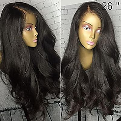 371612717 Glueless Lace Front Wigs With Baby Hair 150% Density Virgin Hair Wigs  Natural Black Brazilian Lace Front Human Hair Wigs For Black Women Body  Wave Hair Wigs ...