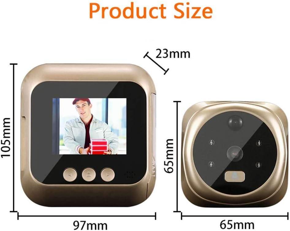 Xigeapg 2,8 Zoll LCD Bewegungs Erkennung 160 Grad T/ürspion Viewer Infrarot Nacht T/ür T/ürspion Kamera Foto//Video Video Kamera