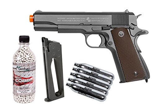 colt 1911 co2 metal blowback airsoft pistol, kit airsoft gun(Airsoft Gun) by Colt