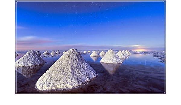 piles-of-salt-dead-sea-blue-sky turismo paisaje Características ...
