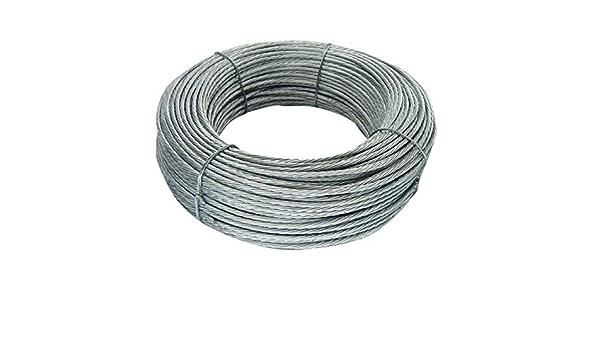 Cable de acero de 3mm para vientos 100m: Amazon.es: Bricolaje ...