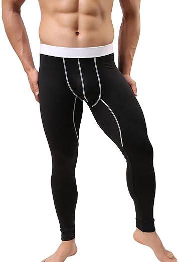 Pantalones de hombre Capa base Ropa interior Calentar Algodón ...
