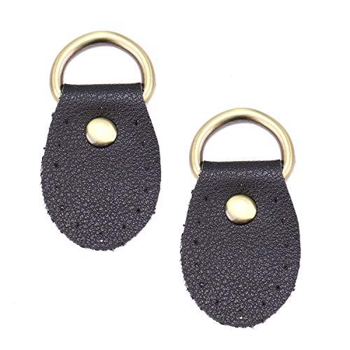 (Monrocco 10 Pcs Black Sew on Handbag Replacement Artificial Leather Handle Buckles Tabs DIY )