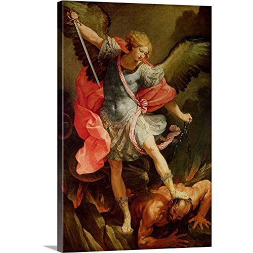 The Archangel Michael Defeating Satan Canvas Wall Art Print, 16