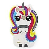 zte blade 6 case - ZTE Blade Z Max Case, ZTE Sequoia Case,3D Cute Cartoon Rainbow Unicorn Horse Shaped Soft Rubber Silicone Case Back Cover for ZTE Blade ZMax Pro 2 / Z982 (2017 Release) (Unicorn)