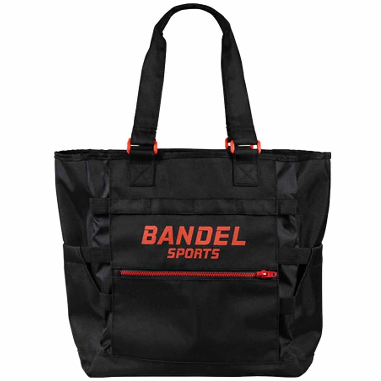 BANDEL SPORTS LARGE TOTE バンデルスポーツ ラージ トートバッグ BS-LT001 B0792SPK7B  ブラック/レッド