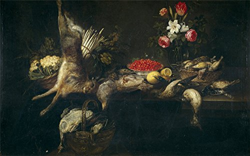 [high quality polyster Canvas ,the Vivid Art Decorative Prints on Canvas of oil painting 'Ykens Frans Despensa 1646 ', 10 x 16 inch / 25 x 41 cm is best for Game Room gallery art and Home decoration and] (Football Yard Marker Costume)